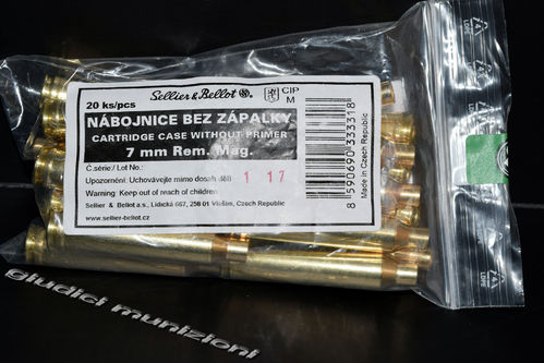 S&B Bossoli Cal.7mm Remington Magnum